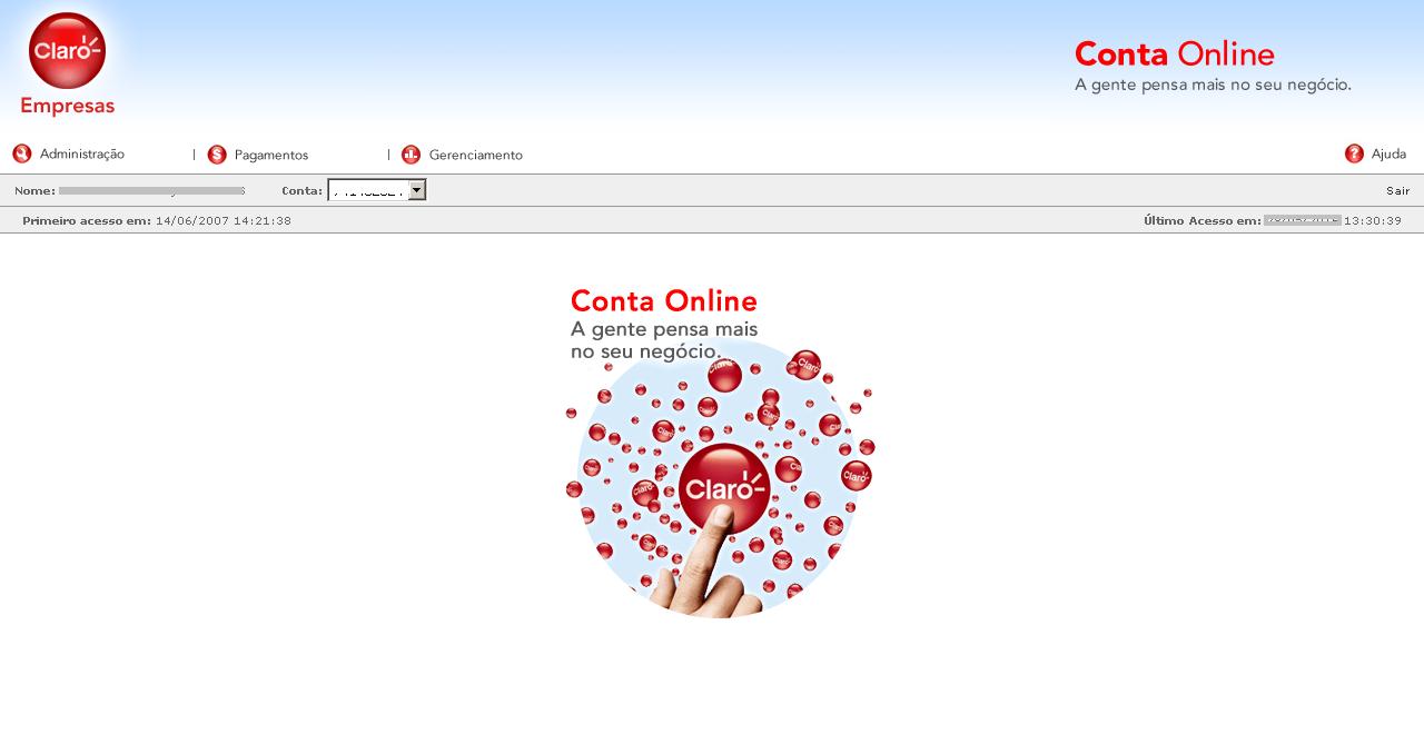 Conta Online Claro Empresas como acessar