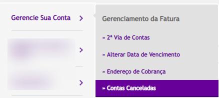 acessar contas canceladas vivo